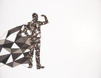 Eroe poligonale Fotografia Stock Libera da Diritti