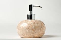 Erogatore di marmo del sapone liquido fotografie stock libere da diritti