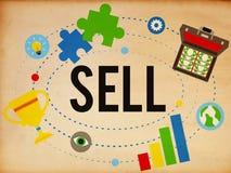 Erogazione in denaro dei guadagni di vendita che acquista concetto Immagine Stock Libera da Diritti