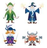 Eroi di fantasia, insieme illustrazione di stock