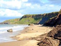 Erosão, baía de Cayton, Yorkshire. Imagens de Stock Royalty Free