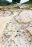 Erosão de água sand0 Imagem de Stock Royalty Free
