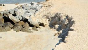 Erosão de praia Foto de Stock