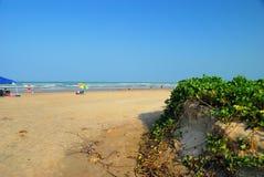 Erosão de praia do furacão imagem de stock royalty free