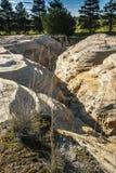 Erosão de terra Imagens de Stock Royalty Free