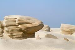 Erosão de vento na areia de uma praia fotografia de stock royalty free