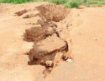 Erosão do solo imagens de stock