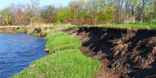 Erosão Illinois do banco de Kishwaukee imagens de stock