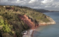 Erosão litoral imagens de stock royalty free