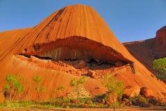 Erosão vermelha da rocha. Foto de Stock