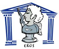 Eros, amorek, antykwarski bóg ilustracja wektor