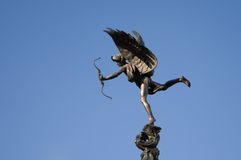 Eros (Anteros). Statue in Picadilly Circus in London Royalty Free Stock Photography