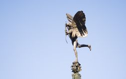 Eros (Anteros). Statue in Picadilly Circus in London Stock Images