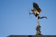 Eros (Anteros). Statue in Picadilly Circus in London Stock Photography