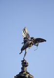 Eros (Anteros). Statue in Picadilly Circus in London Royalty Free Stock Image