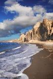 Eros beach on Santorini island Royalty Free Stock Photography