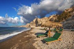 Eros beach on Santorini island Royalty Free Stock Images