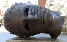 Eros Bendato (Eros Bound) Sculpture by Igor Mitoraj in Krakow, Poland Stock Photography