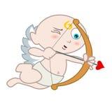 Eros com seta de amor ilustração royalty free
