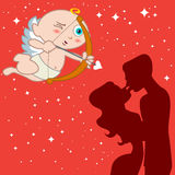Eros with couple Royalty Free Stock Photography
