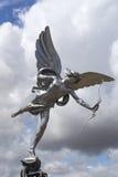 Eros miłości statua przy Piccadilly cyrkiem zdjęcie royalty free