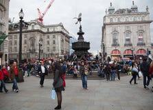 Eros Statue, circo de Piccadilly, Londres Imagen de archivo
