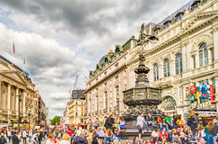 Eros Statue at Piccadilly Circus, London stock images