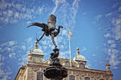 Eros Statue at Piccadilly Circus, London, UK Royalty Free Stock Images