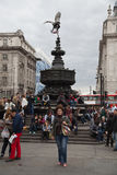 Eros Statue Piccadilly cirkus, London Arkivbild