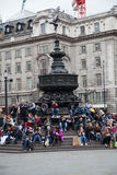 Eros Statue Piccadilly cirkus, London Arkivfoto