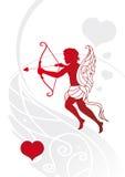 Eros. Stylized eros on a white background stock illustration