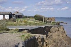 Erosión costera, costa del este de Yorkshire. Inglaterra imágenes de archivo libres de regalías
