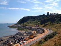 Erosión costera de Scarborough Imagenes de archivo