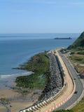 Erosión costera de Scarborough Foto de archivo libre de regalías