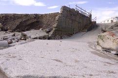Erosión costera en la costa este de Inglaterra foto de archivo libre de regalías