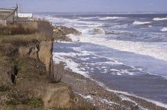 Erosión costera Yorkshire del este Inglaterra fotografía de archivo