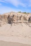 Erosión de la duna de arena Imagen de archivo