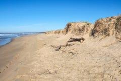 Erosión de la duna y de playa de arena Imagenes de archivo