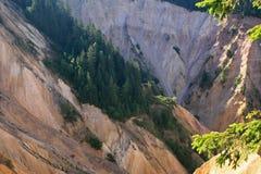 Erosión de la ladera Fotografía de archivo libre de regalías