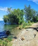 Erosión de la orilla del lago Foto de archivo libre de regalías