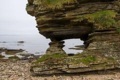 Erosión de rocas en Escocia Fotografía de archivo