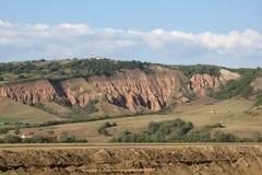 Erosión de suelo roja Imagen de archivo libre de regalías