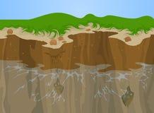 Erosión del acantilado ilustración del vector