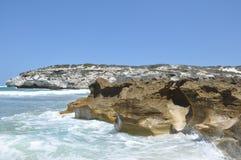 Erosión del mar Imagen de archivo libre de regalías