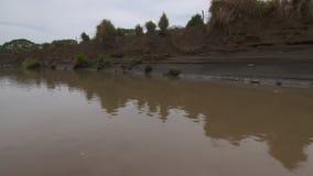 Erosión masiva   Llano del río de la reserva, Colombia almacen de metraje de vídeo