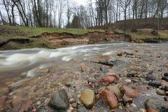 Erosión natural, orilla Fotos de archivo libres de regalías