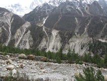 Erosión pesada debido a la actividad glacial Fotos de archivo