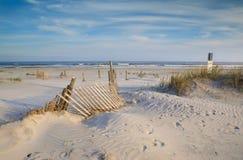 Erosión que cerca en Sandy Folly Beach South Carolina Imágenes de archivo libres de regalías