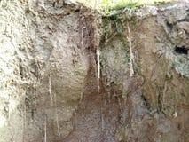 Erosión y sedimentación foto de archivo