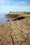 Erosie in Amazonië Stock Afbeeldingen